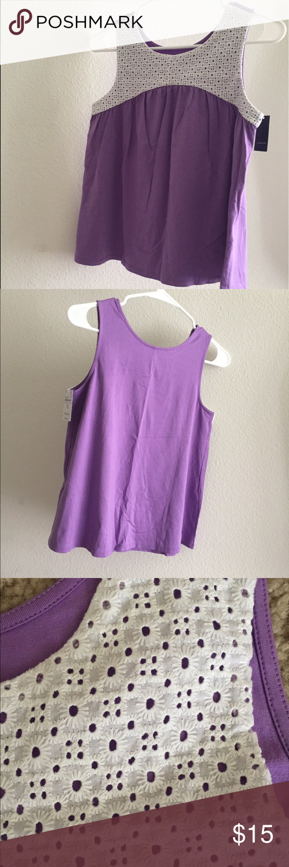 ada63bcd0f1a0 Lands End sleeveless Lavender shirt Beautiful Lands End lavender colored sleeveless  shirt for kids size 10-12 (M) Lands  End Shirts   Tops Tank Tops