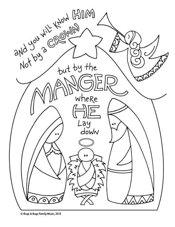 and you will know him / baby jesus christmas coloring page