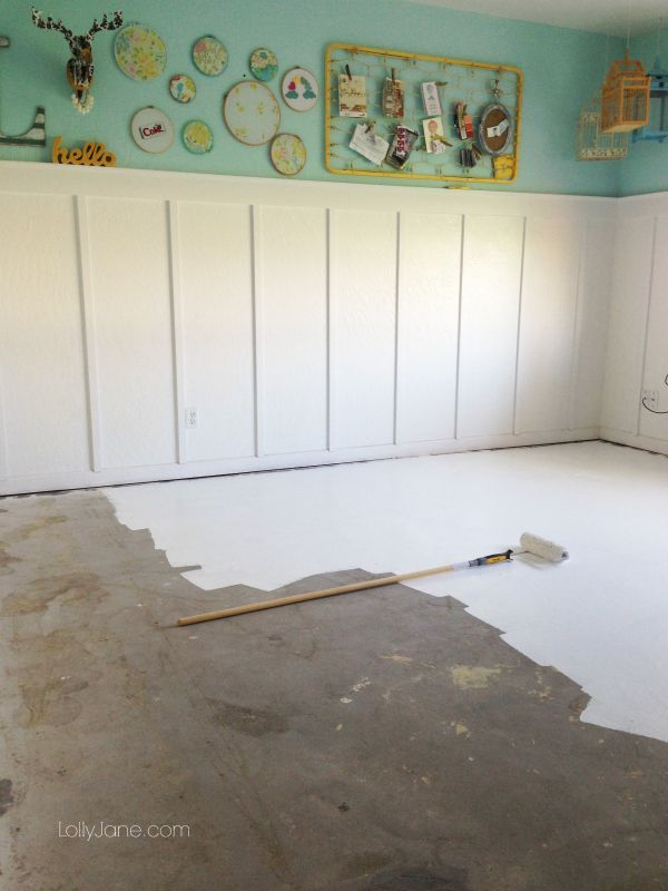 Tips On How To Paint Concrete Flooring Painted Concrete Floors Concrete Floors Diy Painting Basement Floors