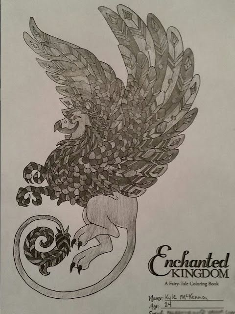 Enchanted Kingdom A Fairy Tale Coloring Book By Kimberly Kay And N Gephart EnchantedColoring AdultColoring Griffon Griffin