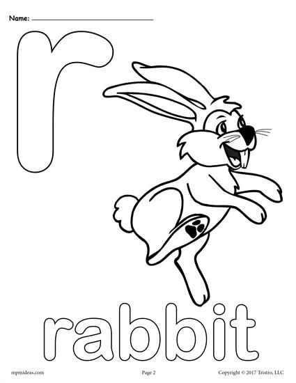 Letter R Alphabet Coloring Pages 3 Free Printable Versions