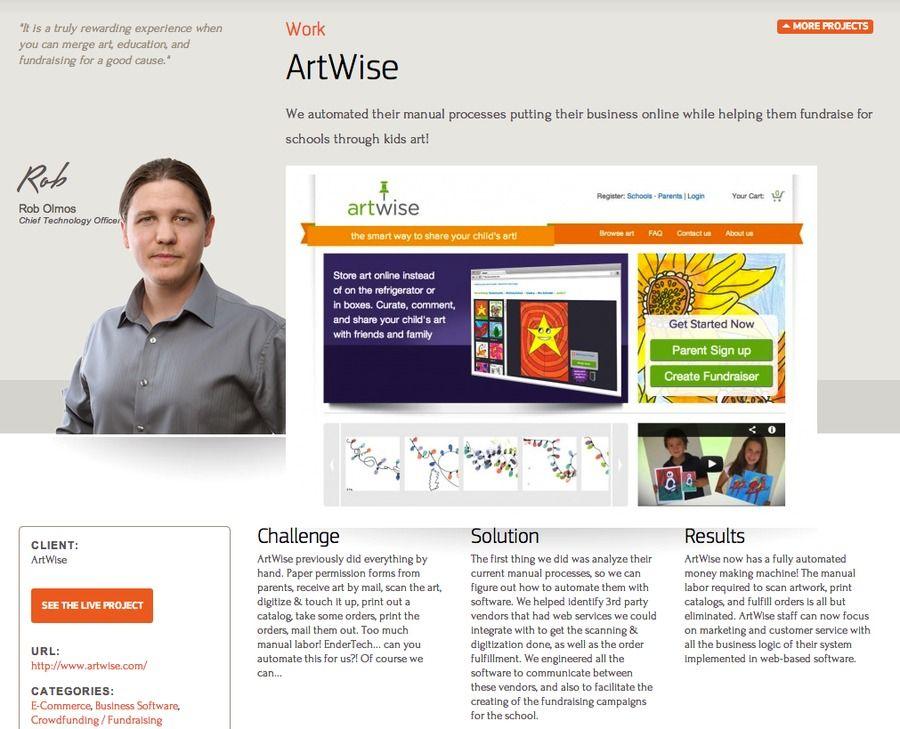 A Great Web Design By Endertech Los Angeles Ca Website E Commerce Education Php Web Design Online Business Education