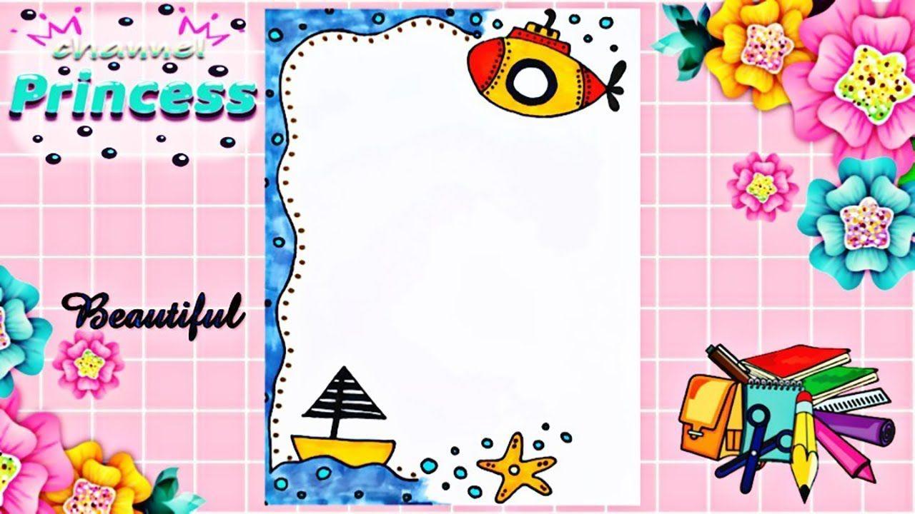 Drawing To Decorate Notebook Sea Theme تزيين دفاتر مدرسة من الداخل ع Cards Playing Cards Supplies