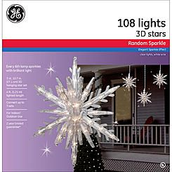 GE Random Sparkle 3pc 108ct Random Sparkle Incandescent 10 75