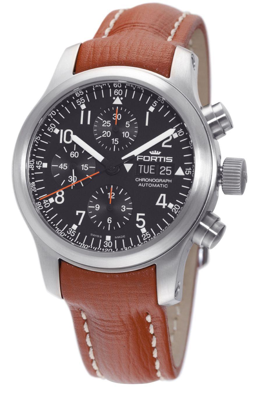 9d9f43f2aec Fortis Mens B-42 Pilot Professional Chronograph - 635.10.11 L.08 Relógios