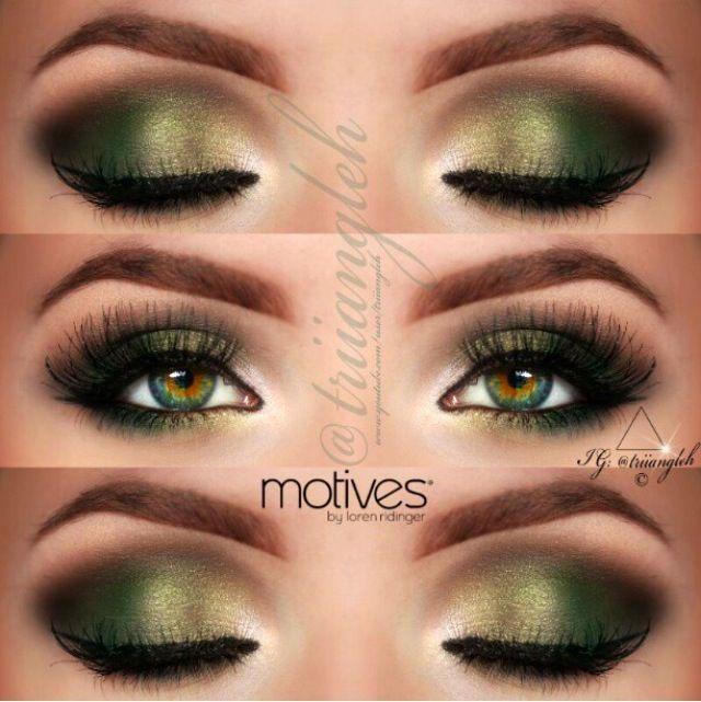Photo of Green eye make up
