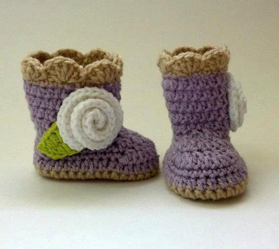 Crochet Baby Rosette Boots by JJBabyCrochet on Etsy, $20.00