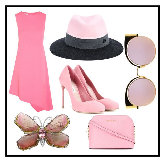 """""""Untitled #905"""" by fashionqueen556 ❤ liked on Polyvore featuring Narciso Rodriguez, Maison Michel, Miu Miu, MICHAEL Michael Kors and Fendi"""