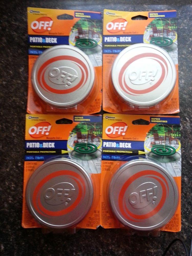 Exceptional Off! Patio U0026 Deck Mosquito Zica Repellent Coil (4) Starter Packs SC Johnson