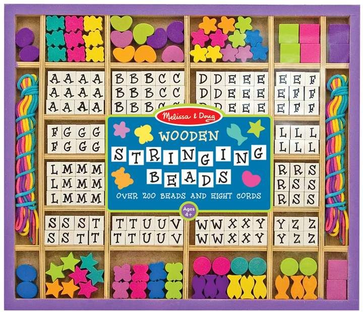 Melissa Doug Wooden Stringing Beads Set In 2019 01 Kids Toys