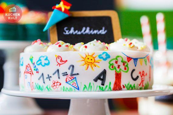 Ideen Zur Einschulung Erste Klasse Lehrer Kuchen Torte Einschulung Kuchen Einschulung
