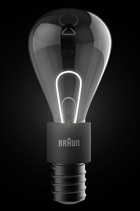 LIT LED Concept Bulb. Designer Elie Ahovi's lightbulb uses clean, modern LED tech for illumination, but pipes it through a fiber-optic tube to provide the illusion of a classic filament. We sure hope these get produced.