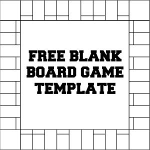 Blank Board Game Template Printables  Make Your Own Board Game