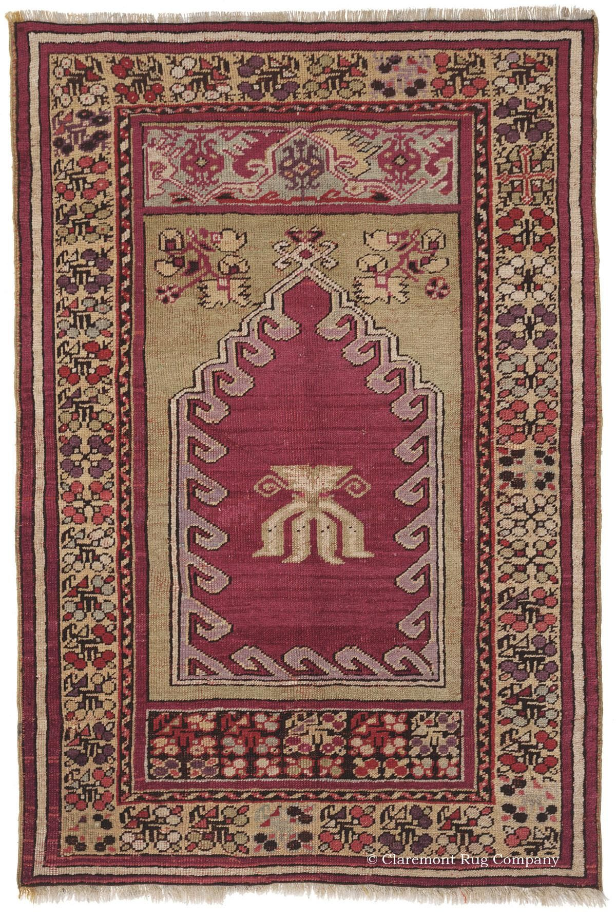 Persian Rug With Simple Antique Carpet Design