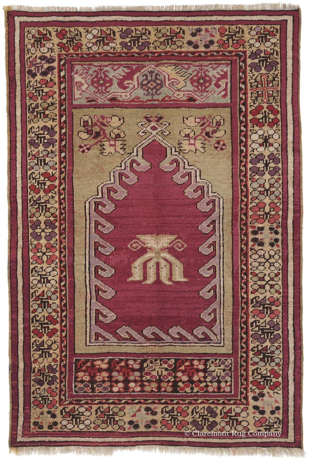 TURKISH Rug With Simple Antique Carpet Design