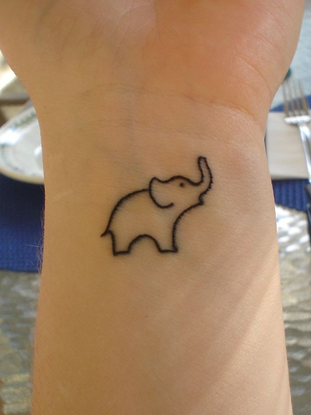76e9d8a0ea171 My lil' elephant! He's on my left wrist and I love him to pieces! My 3rd  tattoo and it's a year and a half old- time for a new one!
