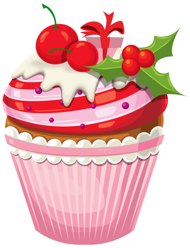 Christmas Cake Png Clipart The Best Png Clipart Cupcake Clipart Cupcake Illustration Christmas Drawing