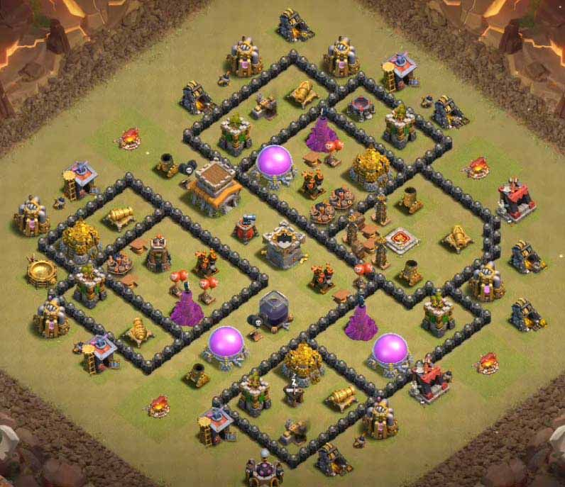 32 Best Th8 War Base Links 2021 New Anti Dragons War Base Clash Of Clans