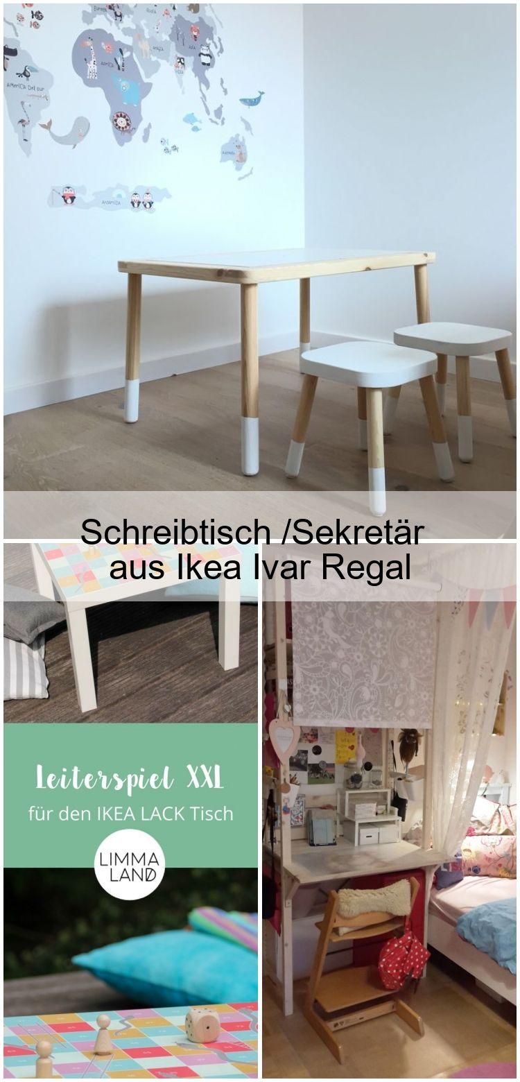 Schreibtisch Sekretar Aus Ikea Ivar Regal