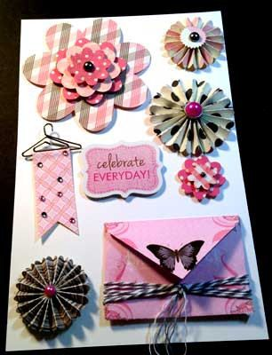 Items similar to 3-d Embellishments for Scrapbooking, Cards, & other Projects: Pink Flowers on Etsy