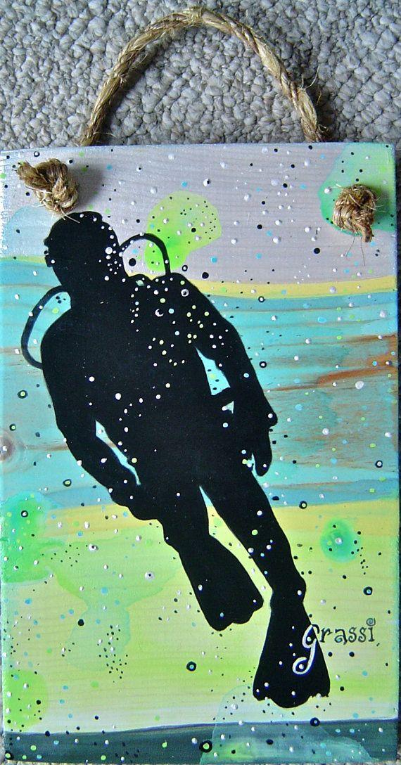 Wall Vinyl Decals Scuba Diver Diving Ocean Sea Decal Sticker Home Decor Z632