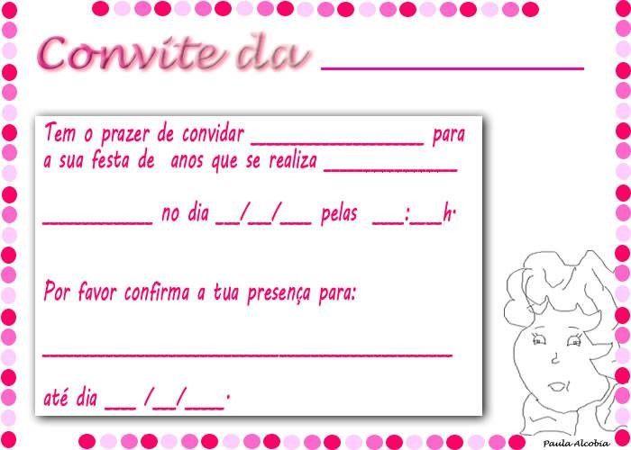 Convite Aniversario Imprimir 7 Convite De Aniversario