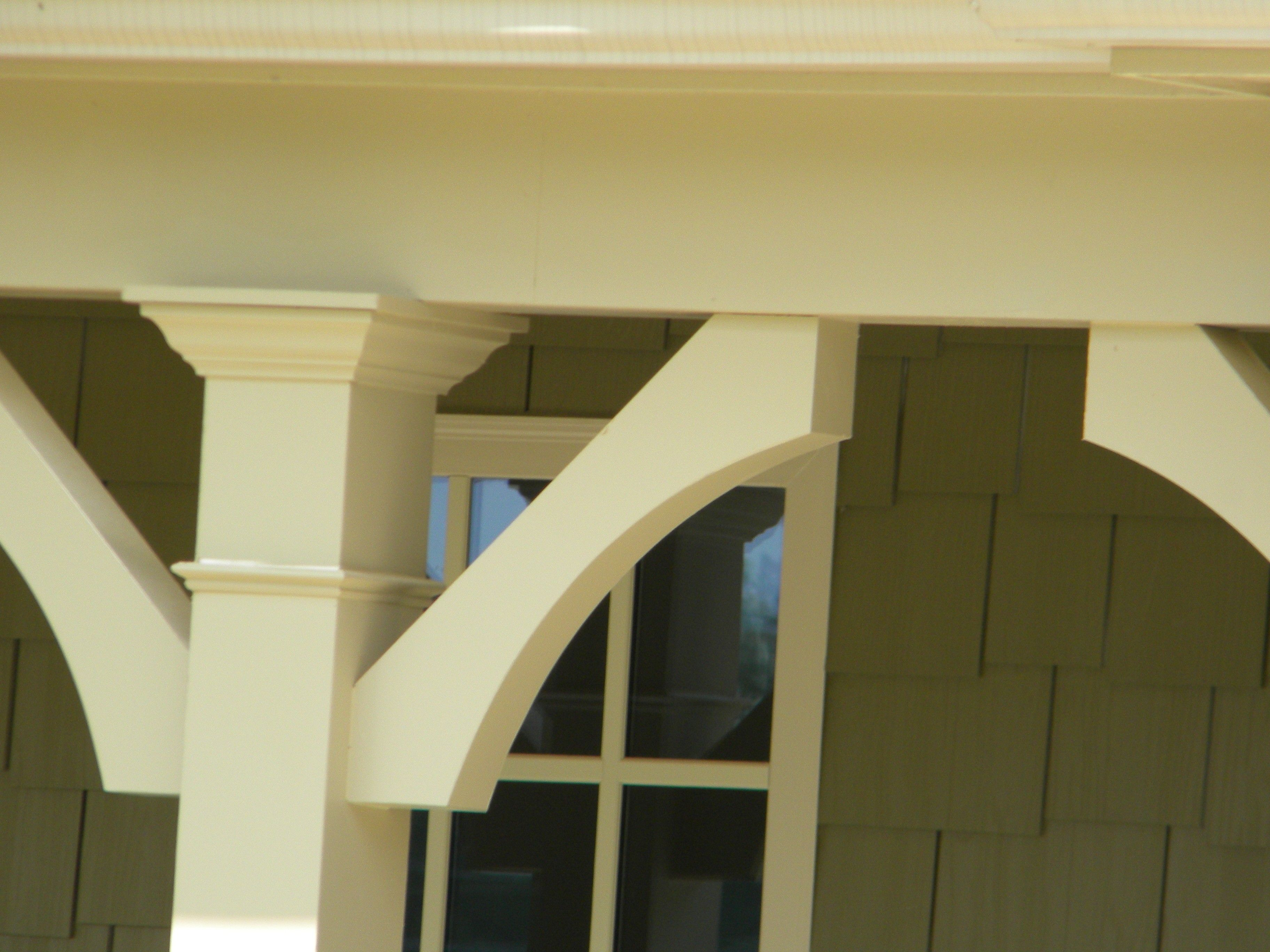 PVC Arch Porch Bracket | Porch posts | Pinterest | Porch, Arch and ...