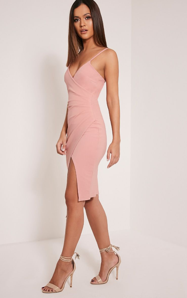 Kylie Rose Wrap Front Crepe Midi Dress Image 5 | Fashion | Pinterest ...