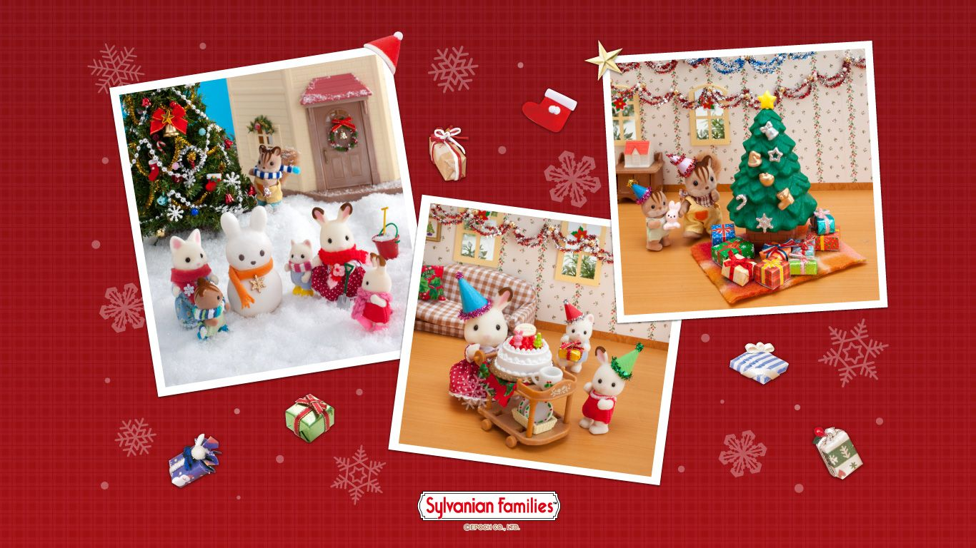 From the au sylvanian families site merry christmas