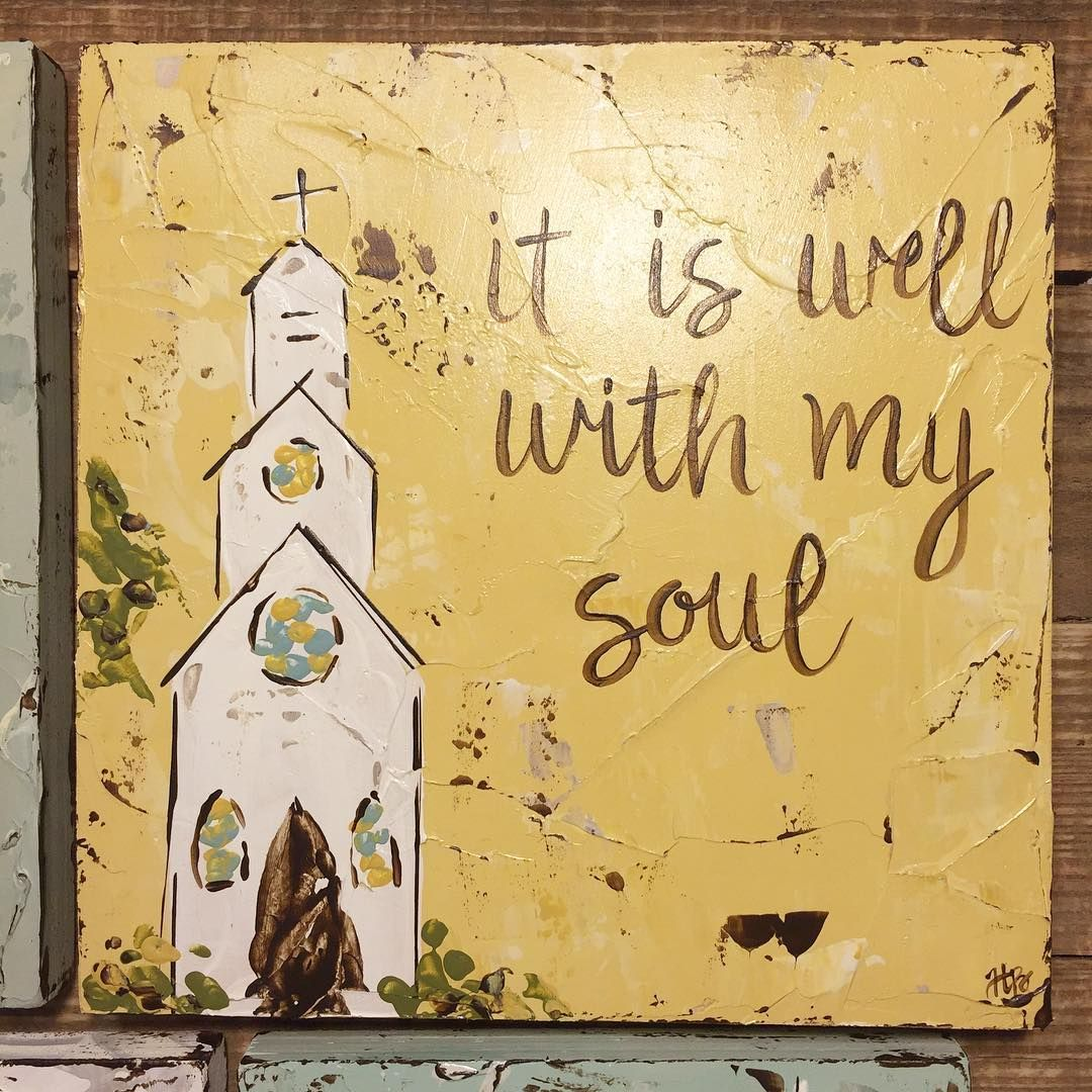 hymn #churchpainting #churchart #itiswellwithmysoul #haleybdesigns ...