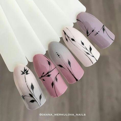 pinvivi on nails in 2020  floral nails nail designs