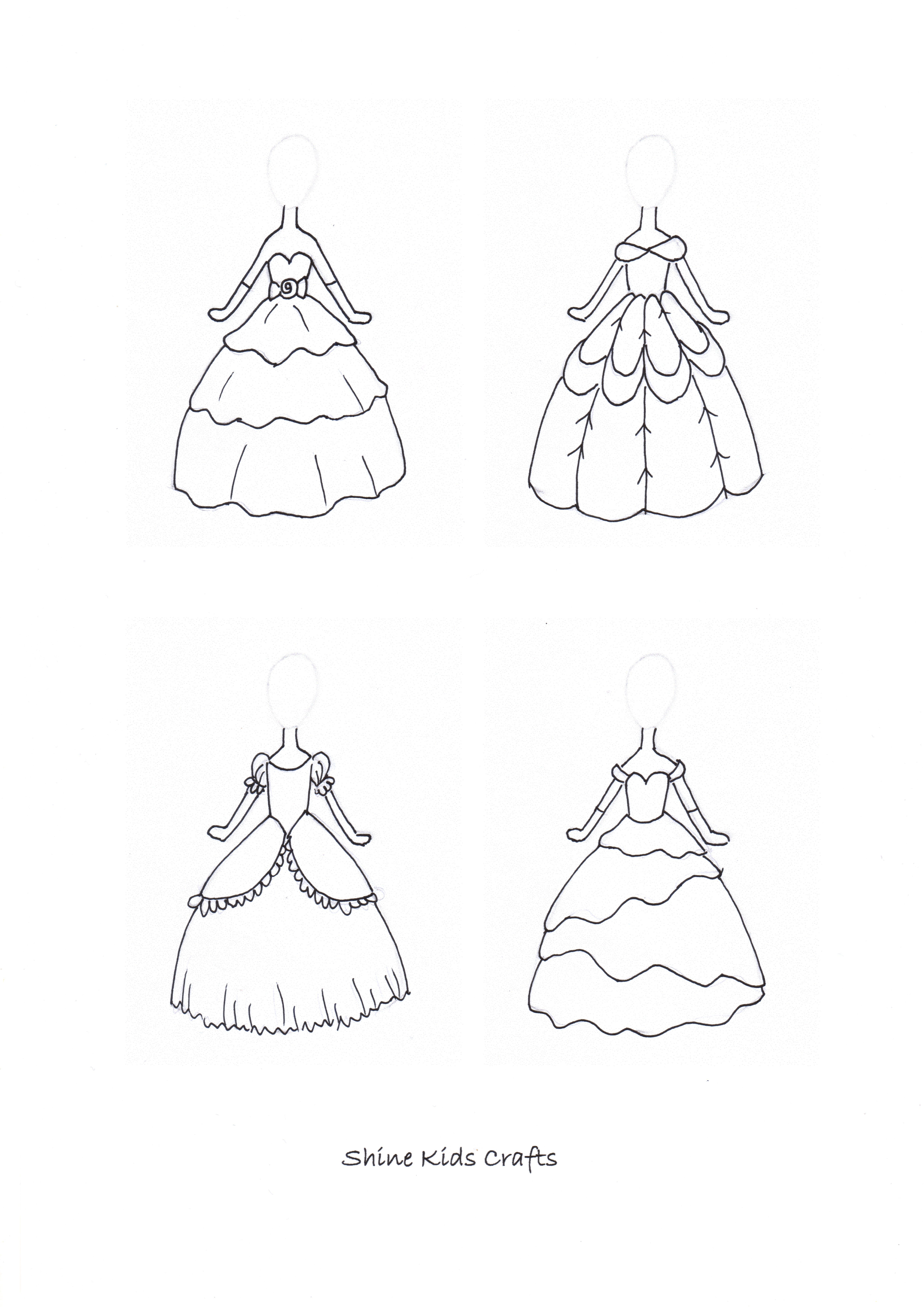 Simple Drawing / Free Printable Coloring Page - Princess ...
