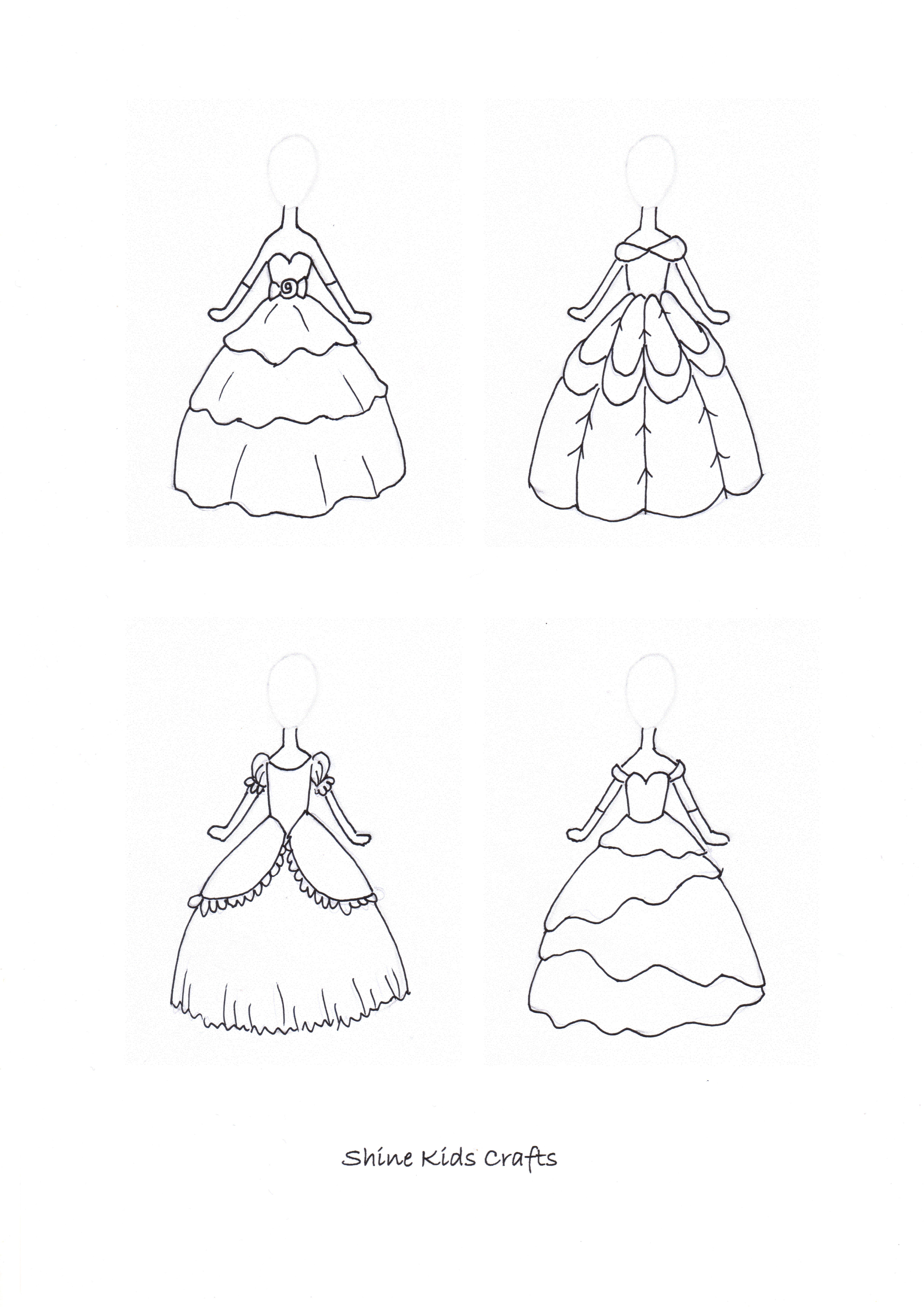 Simple Drawing / Free Printable Coloring Page Princess