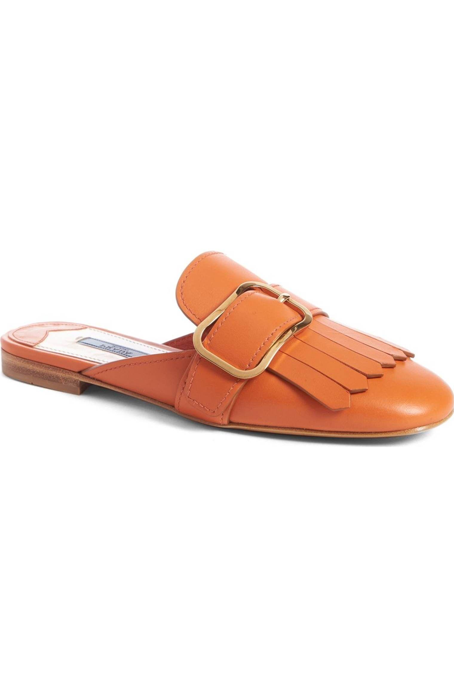 Women's Buckle Strap Flat Loafer Slide Sandal