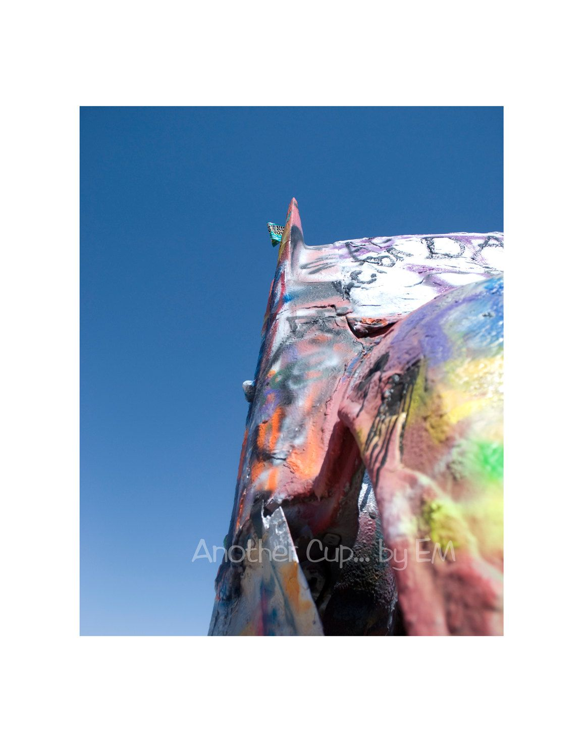 Items similar to Classic Car Photography 8×10 – Graffiti Art, Cadillac Ranch, Vivid Blue Sky, Classic Cars, Americana on Etsy
