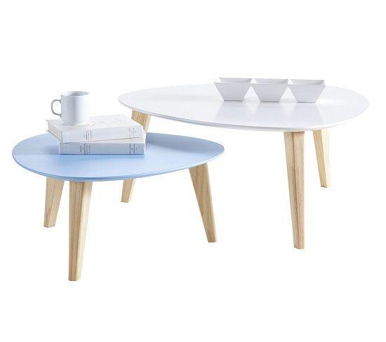 Basses Stone Wood Table Blanc Et Gigognes Basse BleuDéco Tables ZiOXTuPkw