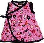Pink Flower Kimono Baby or Toddler Dress