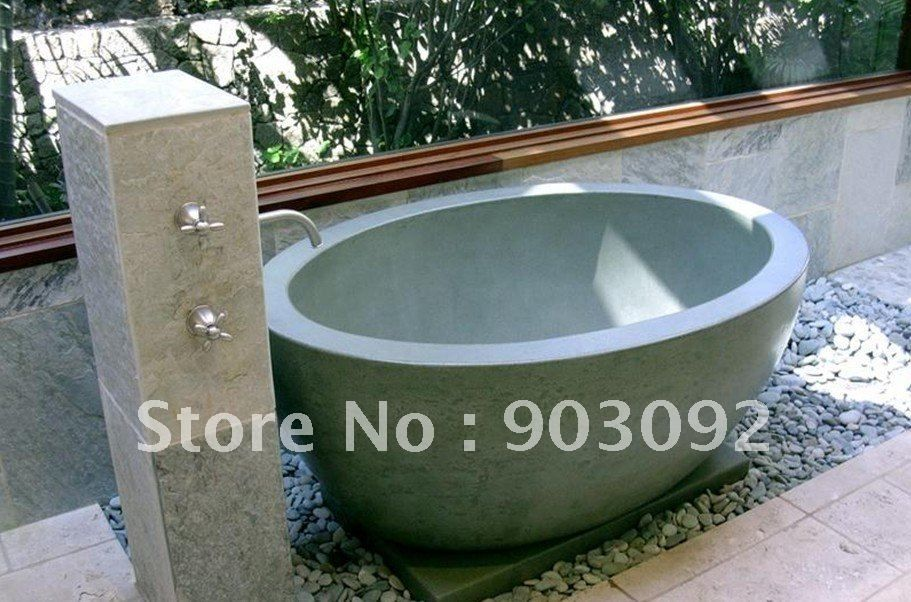 hot selling outdoor spa bath nature stone tub revolution series-in ...