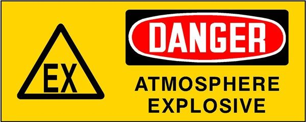 Panneau Atex Danger Atmosphère explosive   L'Hexagone de l ...