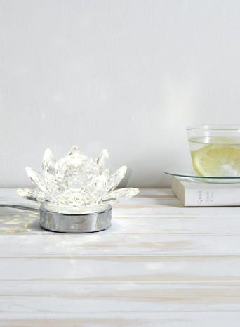 Bhs Wall Lights: Clear Lotus Table Lamp LED tealight chrome crystal light BHS,Lighting