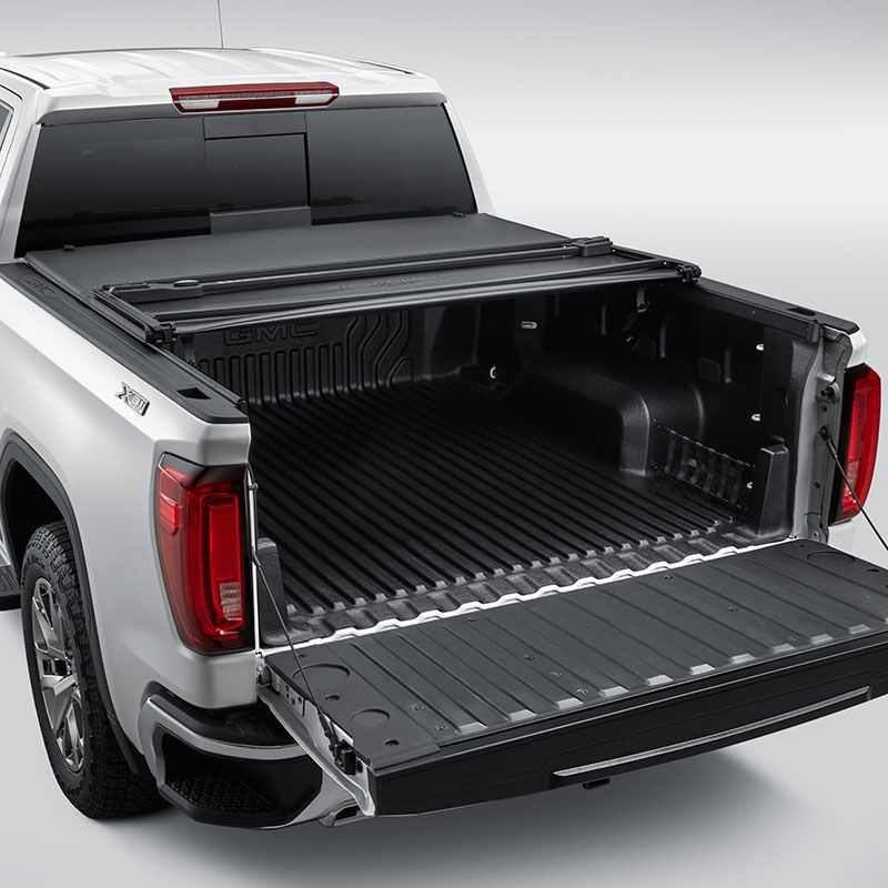 2019 Sierra 1500 Tonneau Cover Soft Tri Fold Black Short Box