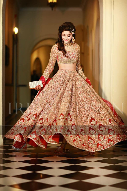 Mawra hocane red lengha, faraz manan couture | Inspired bridal and ...