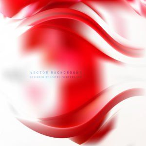 Abstract Red White Wave Design Background #freevectors