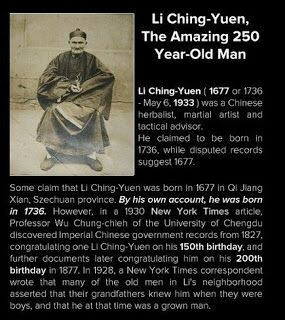Li Ching Yuen From China Lived 256 Years In A 1930 New York Times Article Professor Wu Chung Chieh Of The University Record History History Martial Artist