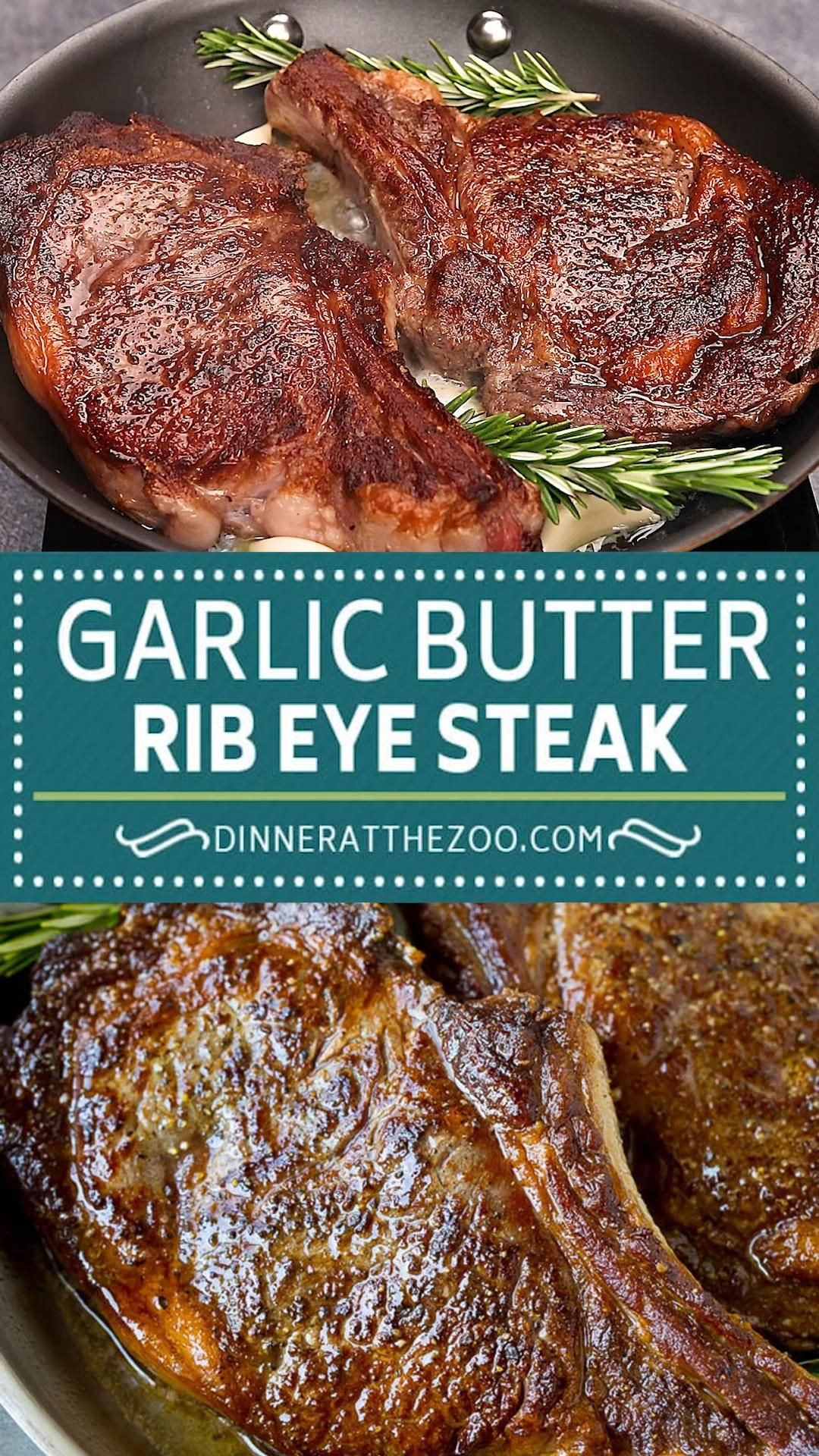 Garlic Butter Rib Eye Steak