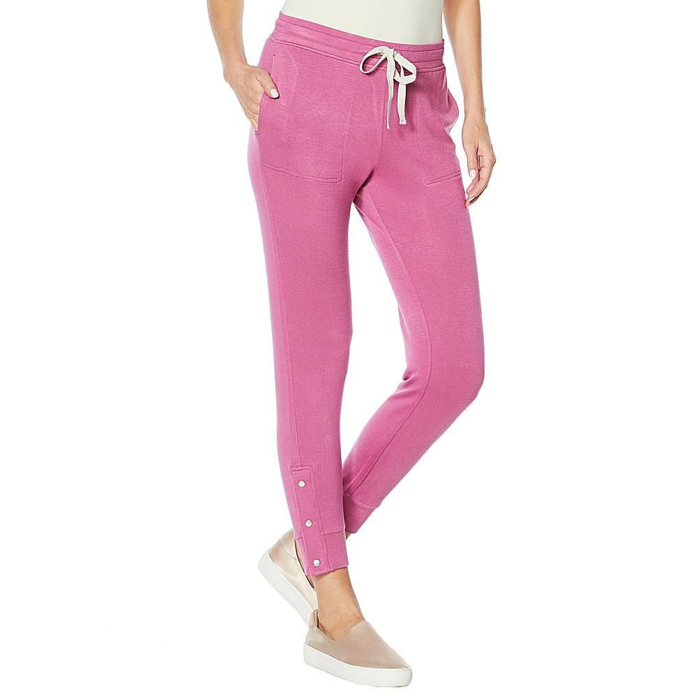 Vintage America French Terry Snap Pant Ease and comfort, this plush pant gives you style versatility and more.