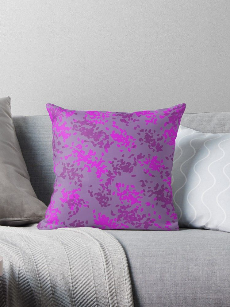 Multi Colored Purple Splatter Abstract Pattern Design ' Throw Pillow Inspiration Purple Decorative Pillows For Bed