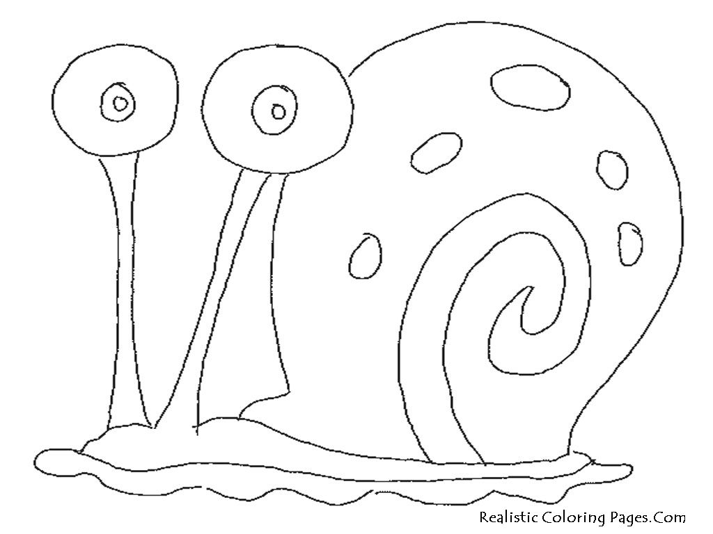 Awesome Spongebob And Gary Coloring Page