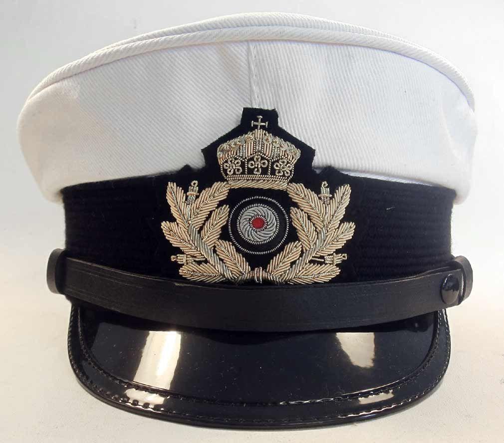 11e1265668c WW1 Kaiserlichen Marine Officer Visor Cap White top. WW1 German Imperial  Navy (Kaiserlichen Marine)