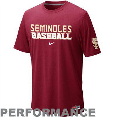 Nike Florida State Seminoles (FSU) Baseball Dri-FIT Practice Performance T- Shirt